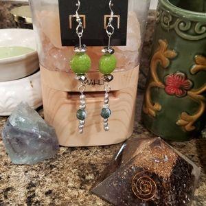 Beautiful handmade Dangle Jasper earrings